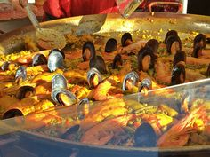 Paella may be an iconic Spanish dish but it's also very popular in France. This market in Arles had several rowsfull of shallow