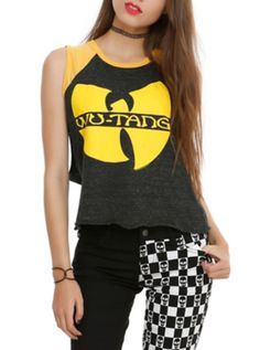 Wu-Tang Clan 36 Girls Raglan Muscle Top