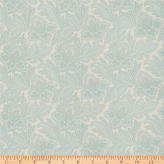 French General Jacobean Floral Jacquard La Mer from @fabricdotcom  Refresh and modernize an old piece of furniture and update it with a new look. This upholstery heavyweight jacquard fabric is appropriate for window treatments, accent pillows, upholstering furniture, headboards and ottomans. Colors include celadon, aqua and bone. This fabric has 30,000 double rubs.