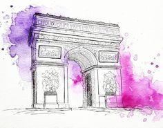 Arc de triomphe Paris . . . . . . . #watercolors #illustration #windsorandnewton #sketching #art #travelillustration #paris #arcdetriomphe #france #artist #artwork #sketch #watercolorart #arte #artfido #artgallery  #creative #illustrator #sketchbook #creative_instaarts #art_spotlight #artistsdrop #art_collective #artproject #art_we_inspire #painting #dailypainting #100dayproject #instaclick #instagram