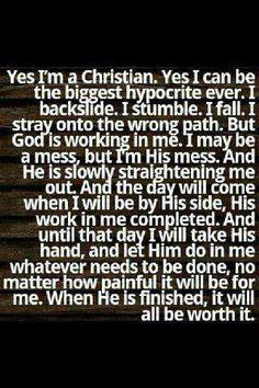 I'm a Christian....