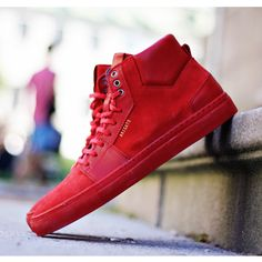 Axel Arigato red high-top sneakers #axelarigato #sneakers #mensfashion