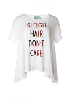 """Judith March """"Sleigh Hair Don't Care"""" Flowy Tee – DejaVu"""