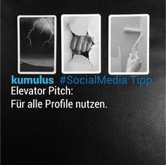 #ElevatorPitch für alle! – kumulus #SocialMedia Tipp