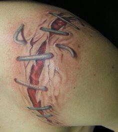Tatto realistic scar