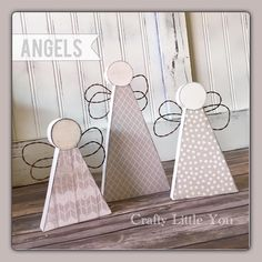 Angels - Stylist and Craft ideas - Pin this boardm - Help the street animals. Christmas Trees For Kids, Christmas Wood, Christmas Angels, Christmas Projects, Holiday Crafts, Angel Crafts, Bee Crafts, Wood Crafts, Diy And Crafts