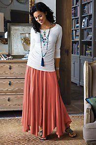Long Godet Skirt, Sizes S-3X   ElegantPlus.com Editor's Pick