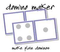 Free Domino Maker, printable dominos with images and text, dominoes to print and make