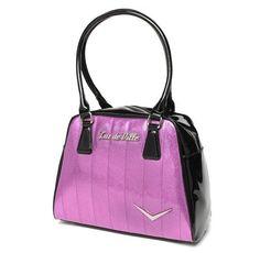 ***FREE U.S. SHIPPING*** #LuxDeVilleGetawayTote #PurpleSparkle #VioletSparkle #LuxDeVillePurse #Retro #LuxDeVilleHandbag #Pinups #DustBag #Cards #LuxDeVille #Handbag