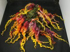 Handspun art yarn Lincolnlocks tailspun 47 oz by WoolShepherdess,