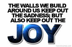 walls play keep away with sadness and joy