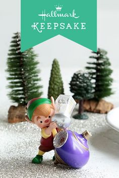 Feeling as busy as one of Santa's elves this season? Easily get your home looking Christmas ready with the third Hallmark Keepsake Ornament in the North Pole Tree Trimming series. This adorable character is the perfect gift idea or Christmas tree decoration to add a charming and nostalgic touch to your holiday home decor. #KEEPSAKEIT