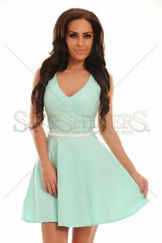 Rochie Pearled Living Turquoise