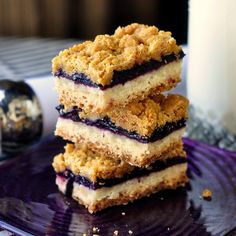 Wild Blueberry Crumble Bars - a simple blueberry compote fills these  crumble bars with a simple shortbread-like base and a delicious graham  crumb crumble ... d0f600bd847