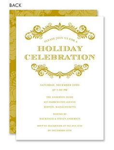92 best formal holiday party images on pinterest christmas parties traditional flourish gold by noteworthy collections invitation box stopboris Images