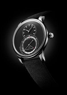 Chez Jaquet Droz, la grande seconde quantième s'ouvre à un nouveau diamètre Swiss Watch, Luxury Watches, Attitude, Accessories, Clock Art, Baby Born, Fancy Watches, Jewelry Accessories