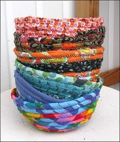 These fabric bowls are so easy and so much fun to make.
