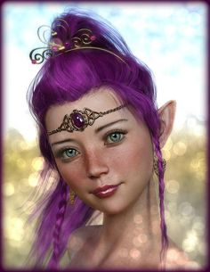 sorry for the overload of Fairies , can't help it, they are so darn cute! Morphs made by me, and the skintexture is from MDD; Lacie My blue eyes Pink Princess, Princess Zelda, Circlet, Blue Eyes, Fantasy Art, Girly, Photoshop, Wonder Woman, Deviantart