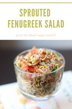 Sprouted Fenugreek Salad is a quick, healthy and refreshing salad made with only few ingredients. Great for people with blood control issues and lactating mothers. The recipe is 100% plant-based and naturally gluten-free! Lactating Mother, Control Issues, How To Make Salad, Few Ingredients, Kitchen Recipes, Family Meals, Sprouts, Plant Based, Mothers