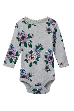 Joe Fresh - Lace Trim Bodysuit (Baby Girls) is now 30% off. Free Shipping on orders over $100.