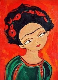 super cute Freida Kahlo repro ;) #art
