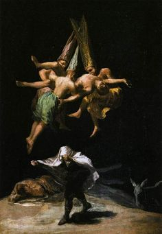 Francisco Goya Witches in the Air, , Museo del Prado, Madrid. Read more about the symbolism and interpretation of Witches in the Air by Francisco Goya. Spanish Painters, Spanish Artists, Art Espagnole, Hans Baldung Grien, Max Ernst, Art Moderne, Classical Art, Samhain, Rembrandt