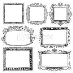Hand Drawn Frames Royalty Free Stock Vector Art Illustration