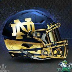 University of Norte Dame Fighting Irish Concept Football Helmet. Football Usa, Football Ticket, Notre Dame Football, American Football, Football Quotes, Alabama Football, Football Stuff, Pittsburgh Football, Oklahoma Sooners