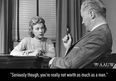 """""""Seriously though, you're really not worth as much as a man. """" Our Voice. Our Vote. Equal Pay, Time For Change, E Cards, Feminism, The Voice, Politics, Feelings, Gratitude, Laughing"""