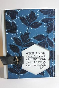 Beautiful Life Card by Heather Nichols for Papertrey Ink (July 2013)