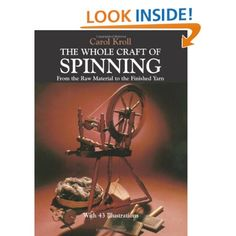 This little book covers the essentials of spinning with a hand spindle, and many wheels. It covers preparing fibers, spinning, plying, skeining. It even covers novelty yarns. I'm not in any hurry to spin cattail or milkweed fluff, but this book tells you how!---from a reviewer on amazon