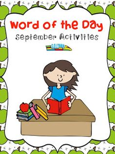 These fun cut and paste activities will help your students with word order as they learn back to school vocabulary words$ Read more about our Word of the Day resources!