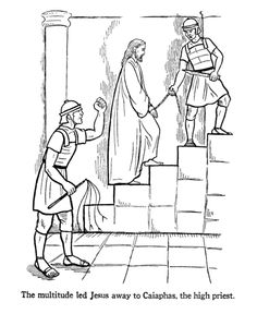 Easter Story Coloring Pages