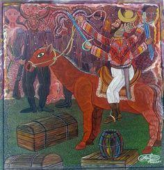 "Original Haitian Painting by Frantz Zephirin 2012 "" La Chevauchee des Ogou"" Acrylic on Canvas New Orleans Voodoo, Art Gallery, Haitian Art, Caribbean Art, Art For Sale Online, Art Original, African Diaspora, Beautiful Paintings, South America"