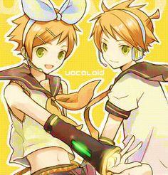 Hikaru and Kaoru as Rin and Len