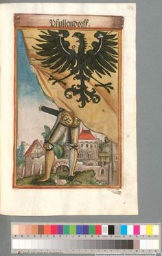 Colour Plate: German State Banners:  Pfullendorf, Imperial City