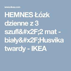 HEMNES Łózk dzienne z 3 szufl/2 mat - biały/Husvika twardy - IKEA