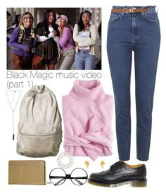 """""""black magic"""" by music-videos-outfits ❤ liked on Polyvore featuring Topshop, J.Crew, Dr. Martens, ZeroUV, Invisibobble, Natalie B, Latelita, M&Co, Kate Spade and littlemix"""
