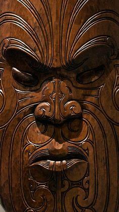 """Mask A Maori Mask.""""If walls could speak imagine the stories they would tell""""A Maori Mask.""""If walls could speak imagine the stories they would tell"""" Arte Tribal, Tribal Art, African Masks, African Art, Art Premier, Art Sculpture, Ice Sculptures, Maori Art, Art Africain"""