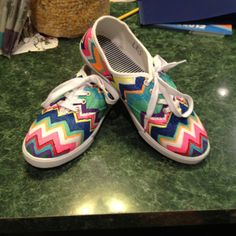My new shoes!!   Five dollars from Walmart and Sharpie fabric markers. Nothing can beat that! :)