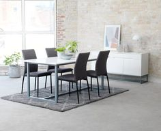 Ruokapöytä ESBJERG 90x180 valk./hopea   JYSK Hopea, Dining Bench, Furniture, Home Decor, Decoration Home, Table Bench, Room Decor, Home Furnishings, Home Interior Design
