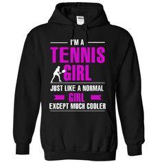 Cool Tennis girl T Shirts, Hoodies, Sweatshirts. CHECK PRICE ==► https://www.sunfrog.com/LifeStyle/Cool-Tennis-girl-6929-Black-8843281-Hoodie.html?41382