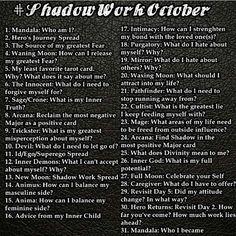 #Shadowworkoctober tarot challenge from Instagram