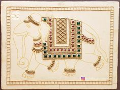 elephant items This is the semi finished Tanjore painting board. It contains basic sketch of the subject, semi-precious stones and embossed work made of muck paste. Use this board to Kerala Mural Painting, Madhubani Painting, Marble Painting, Marble Art, Marble Jewelry, Mural Wall Art, Wall Collage, Outline Drawings, Traditional Paintings