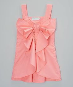 Another great find on #zulily! Just Couture Pink Big Bow Sleeveless Dress - Infant & Kids by Just Couture #zulilyfinds