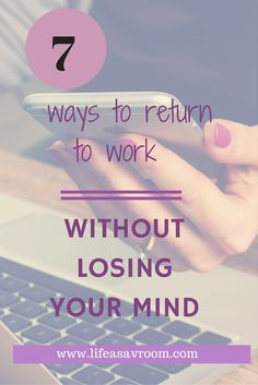 Returning to work after maternity leave? Here are some tips to help you balance life as a working mom.