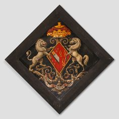 Hatchment Frances Scudamore widow of Charles Howard, Duke of Norfolk St. Cuthbert's Church, at Holme Lacy, Herefs, England St Cuthbert, Family Crest, Crests, Coat Of Arms, Black Backgrounds, Symbols, Fine Art, History, Norfolk