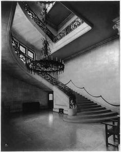 Biltmore Estate | Stairway, Biltmore House, Asheville, Buncombe County, NC, (c 1930).