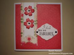 Fritids sysler: Jeg kan godt lide kort i stærke farver. Dette røde...