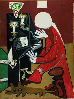 Pablo Picasso. The piano . Cannes, October 17, 1957. Oil on canvas.